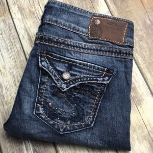 Silver Jeans McKenzie Straight Leg 27 x 32 Flap Pk
